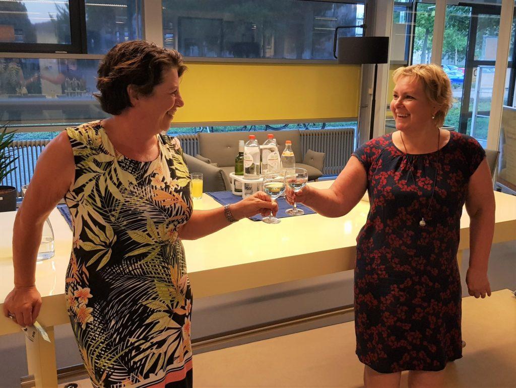 Mit Yvonne Laeven. Bibliotheksleiterin Valkenburg, Niederlande